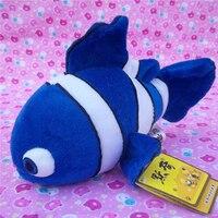 Nouveau petit mignon bleu poissons jouet de haute qualité poissons Tropicaux poupée environ 24 cm