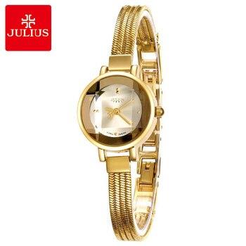 Top Julius Lady Women's Wrist Watch Fashion Hours Dress Bracelet Steel Tassels Student Girl Luxury Birthday Valentine Gift