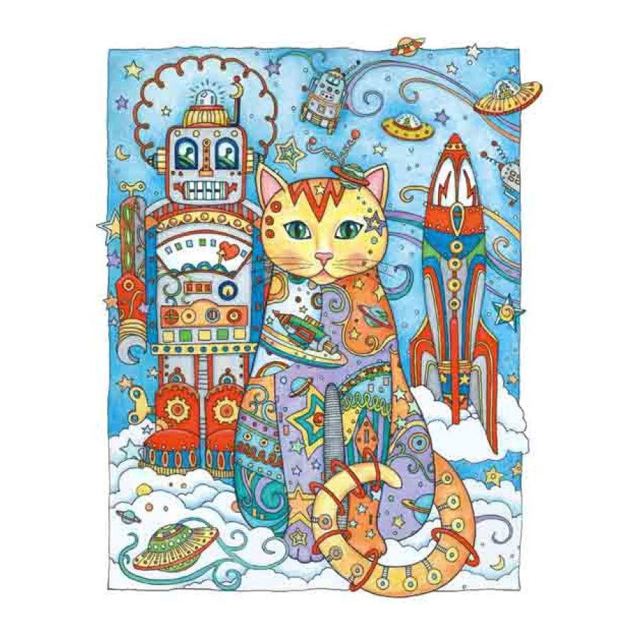 Creative anti stress colouring book - Creative Cats Antistress Coloring Book For Adults Relieve Stress Art Painting Drawing Graffiti Colouring Book In Books From Office School Supplies On