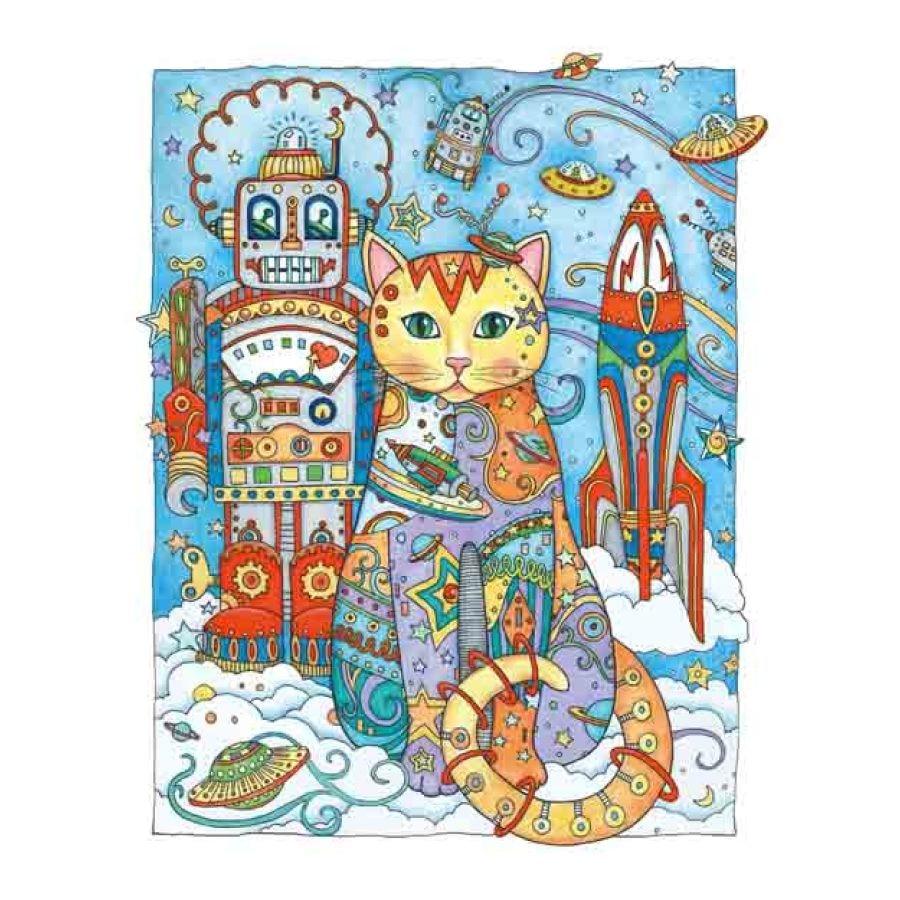 Creativo Gatos AntiStress libro para colorear para adultos relieve ...
