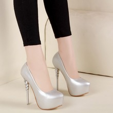 Free shipping spring women's fashion 13cm ultra platform high heel high-heeled shoes all-match round toe single shoes