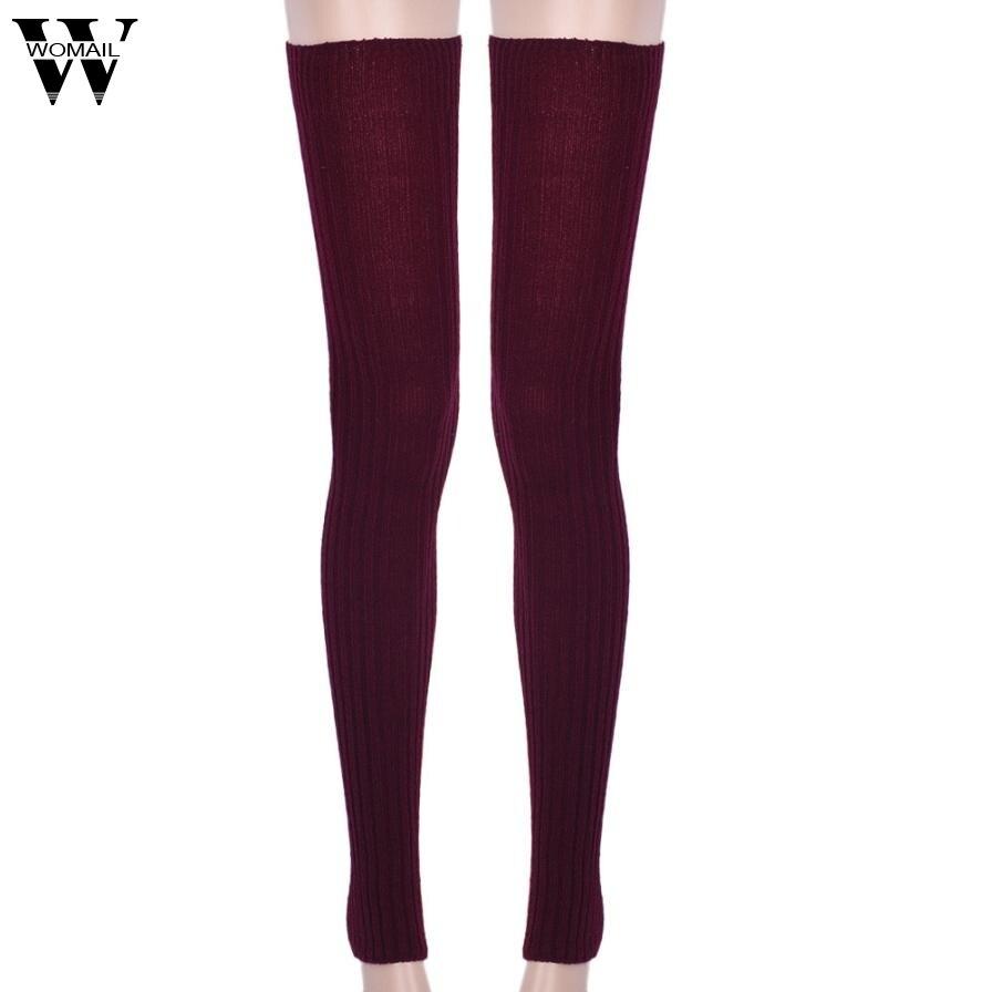 Amazing Winter Warm Women Thigh High Knit Leg Warmers For ...