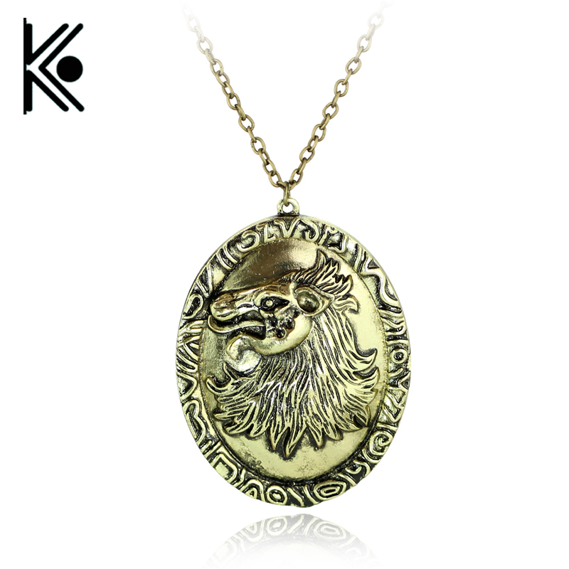 drop shipping game of thrones necklace song of ice and fire cersei lannister hourse vintage lion badge pendant