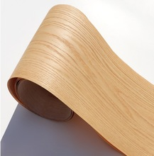 2 יחידות\חבילה L: 2.5 מטר רוחב: 18 cm טבעי אדום אלון עץ פורניר דפוס קליפה