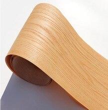 2 sztuk/partia L: 2.5 metrów szerokość: 18cm naturalne czerwone drewno dębowe fornir wzór kory