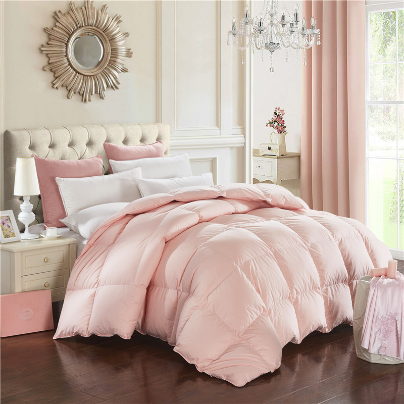 doremi solid pattern classics duck down comforters double feather quilt bedding filler factory outlet - Down Blankets