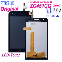 For Asus Zenfone C ZC451CG Z007 LCD Display Matrix with Touch Screen Digitizer Full Assembly 4.5 for Black + Free Tools