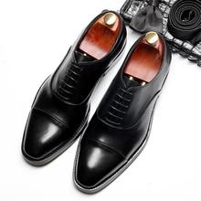 Обувь с перфорацией типа «броги» из натуральной коровьей кожи; мужская повседневная обувь на плоской подошве; винтажные кроссовки ручной работы; Цвет черный, красный; Туфли-оксфорды для мужчин; сезон весна