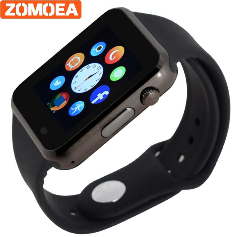 Bluetooth Smart Uhr Unterstützung SIM SD Karte Elektronik Handgelenk Telefon Uhr Für Android Smartphone Blau Grün Rosa Strap PK Q18 DZ09