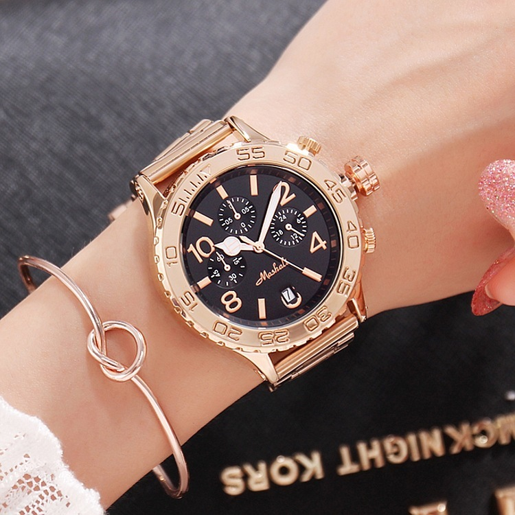 Luxury Watch Women Large Dial Individual Fashion Watches Ladies Watch Female Gold Wrist Watches Montre Femme