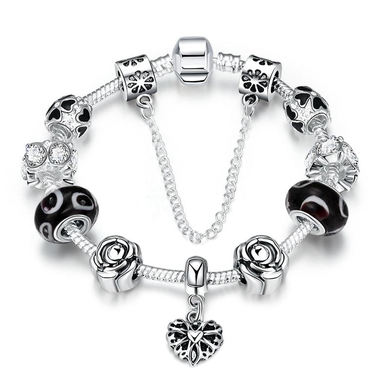 5b5e5e1c89b0 Pdrh016 925 joyas de plata plateada brazalete de serpiente Cadena de  tornillo de plata Europea Amuletos Cuentas lksvycjw