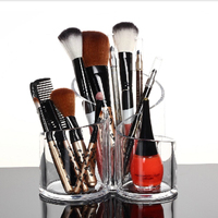 Acrylic Makeup Brush Organiser Cosmetic Holder Makeup Display Rack Box Storage Box Rangement Maquillage