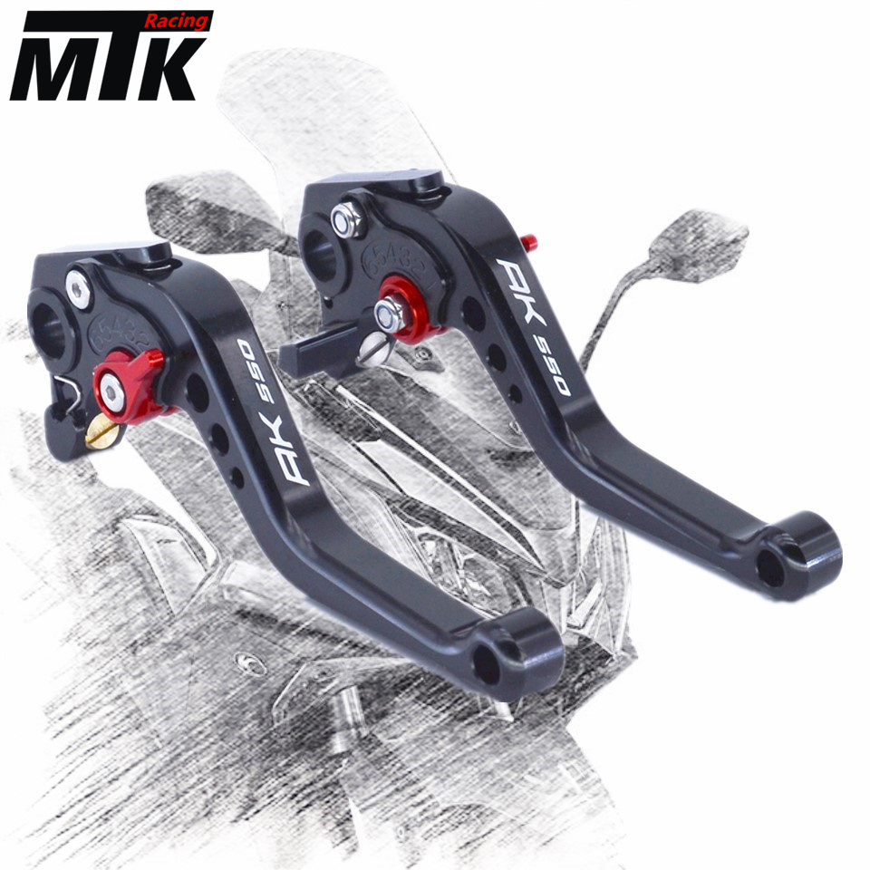 MTKRACING For KYMCO AK550 2017-2018 motorcycle CNC Aluminum Short Brake Clutch Levers mtkracing for kymco ak550 motorcycle parts headlight protector cover screen lens ak 550 2017 2018