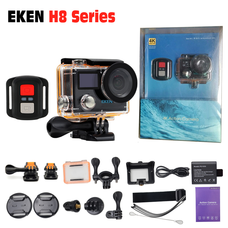 Action Camera 4K/30fps EKEN H8R 1080p/120fps pro waterproof bike sports & action video camera for extreme sports 2017 arrival original eken action camera h9 h9r 4k sport camera with remote hd wifi 1080p 30fps go waterproof pro actoin cam