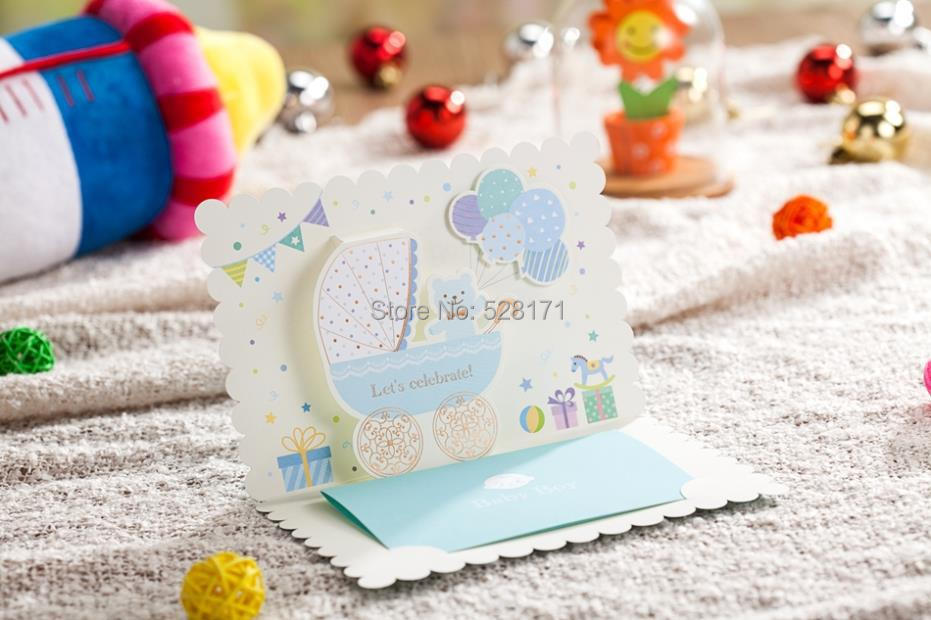 aliexpress : buy free shipping 6pcs/lot lovely invitation, Baby shower invitations