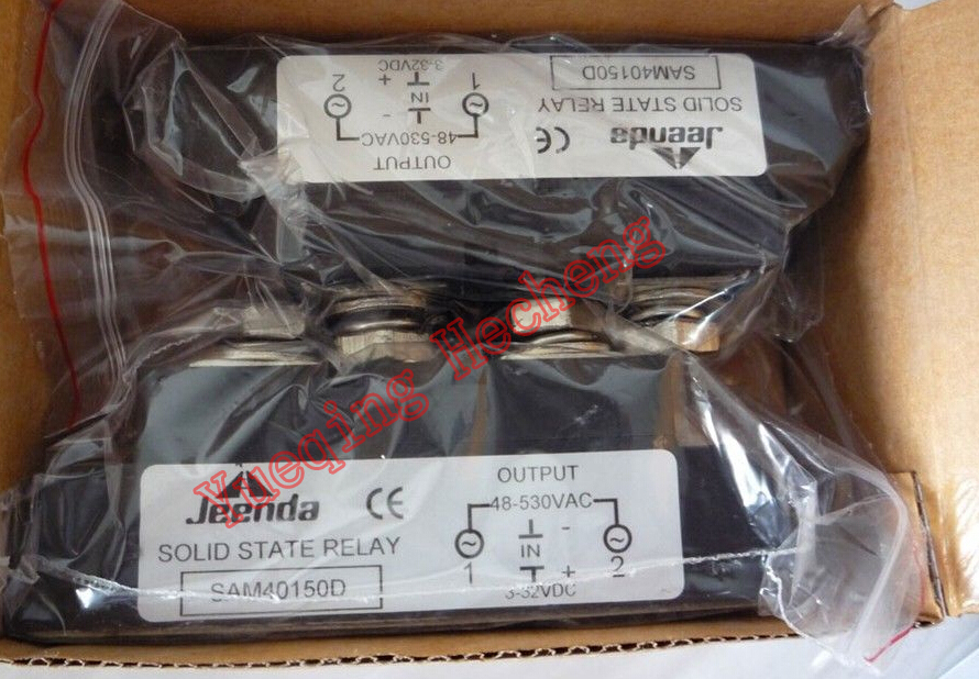 Single Phase SSR 3-32VDC Input 40-530VAC Output Load 150A Solid State Relay new and original sa366150d sa3 66150d gold 3 phase solid state relay ssr 4 32vdc 40 660vac 150a