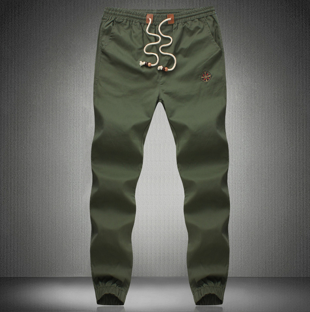 Plus Size 5XL Mens Chino Pants Casual Fashion Black Khaki Joggers Cotton Sweat pants Men Elastic Harem Pants Sarouel Homme
