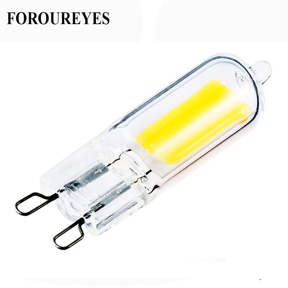 The New G9 Led Lamp Dimmable 110V 220V COB Lamp Glass Body Ultra Bright LED