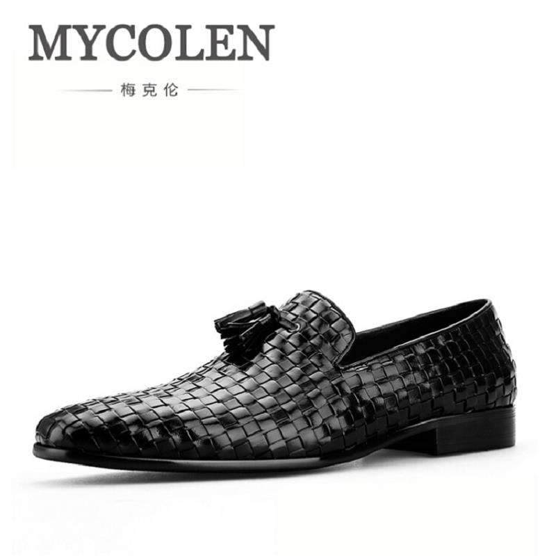 MYCOLEN Men Shoes woven Casual Driving Shoes Slip On Men Loafers Breathable Moccasins Italian Shoes for Men zapatillas hombre защитное стекло для ipad 2 3 4 inter step is tg ipad234un 000b201