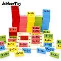 JaheerToy Montessori Pädagogisches Spielzeug Holz Math Spielzeug für Kinder Domino 3-4-5-6-7- 8 jahre Alt Game Lustige Geschenke Kinder