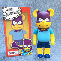 New Arrival 400% Bearbrick Cosplay The Simpsons & Batman PVC Action Figure Fashion Toys In Retail Box