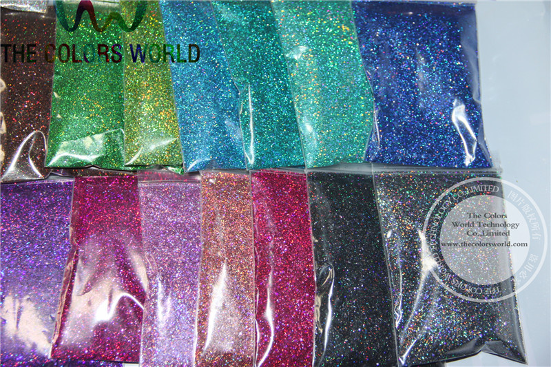 Image 5 - 24 Laser Holographic Colors 0.4MM size glitter  for nail decoration and others DIY Accessories-in Nail Glitter from Beauty & Health