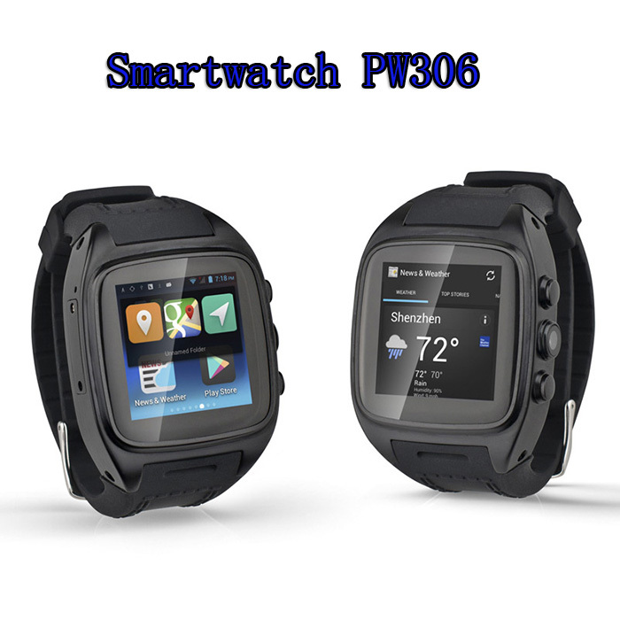 2015 font b Smartwatch b font Android 3G Mobile Phone Watch PW306 WiFi Bluetooth Intelligent Android