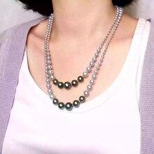 Moda Largo Collar de Perlas de Varias Capas Collar De Perlas Madre Mucho Desgaste Mujeres Accesorios Joyería Collar de la Declaración Para Las Mujeres