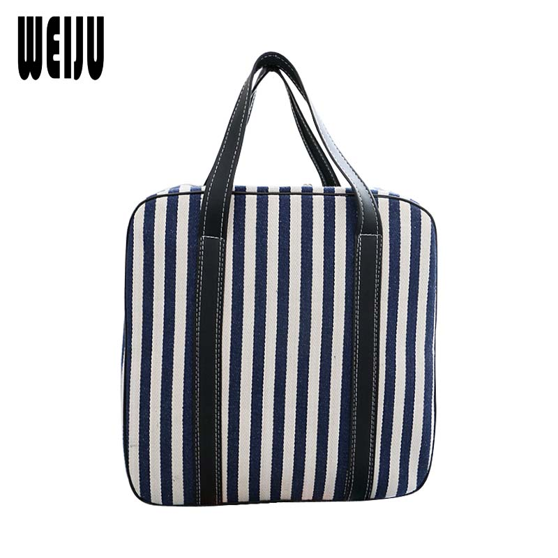 WEIJU Portable Luggage Duffle Bag Striped Travel Bag Casual Large Capacity Men Travel Bags Handbag Traveling Tote Bag