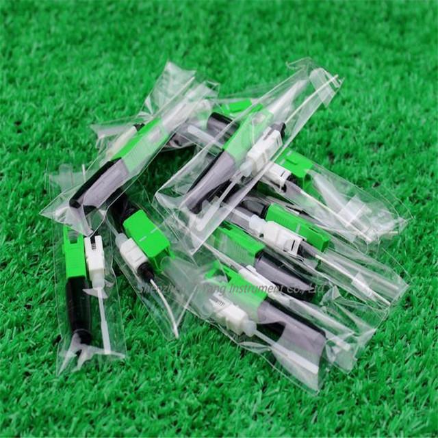 50 unids/lote SC tipo De Fibra Óptica Conector De Fibra Óptica de Fusión En Caliente/FTTH Rápido Conector De Fibra Óptica Herramientas de Comunicación