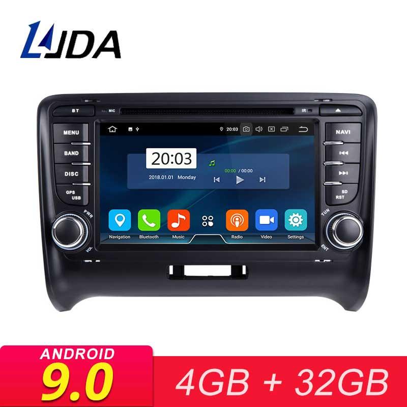 Autoradio LJDA 2 Din Android 9.0 pour AUDI TT 2006-2012 4G RAM voiture multimédia Headunit stéréo Auto Audio GPS DVD vidéo écran IPS