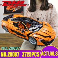 Lepin 20087 23018 Technic Car The MOC 16915 Orange Super Racing Car Set Building Blocks Bricks Legoing Toy Christmas Gift 21004A