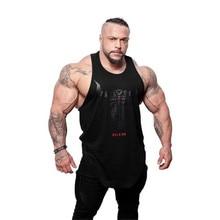 Brand Bull head printing clothing bodybuilding stringer gyms tank top men fitness singlet cotton sleeveless shirt muscle vest