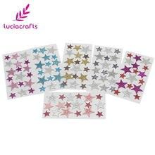 Sprzedaż lucia crafts 1 arkusz/6 arkuszy 5.5*11cm gwiazda kształt naklejki wiele rozmiarów DIY samoprzylepne pamiętnik scrapbooking dekoracja C0816