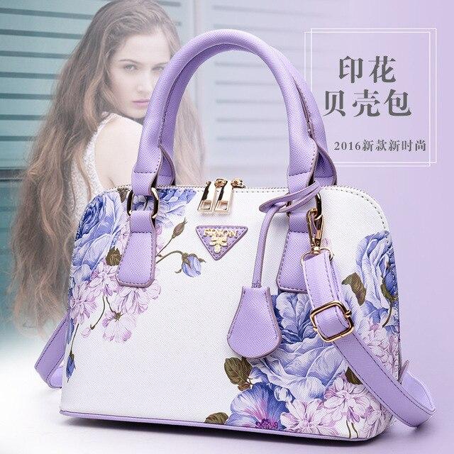 2017 fashion flowers ladies shell bags floral printing women messenger bags female handbag bolsa feminina sac a main small bags