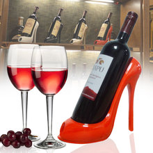 Wine Bottle Holder Stylish High Heel Shoe Design Wine Rack Wine stand Home Decoration Interior Crafts Gift Basket Accessories resin wine girl wine rack best bottle holder egyptian goddess wine stand accessories home bar decor wine holder gift