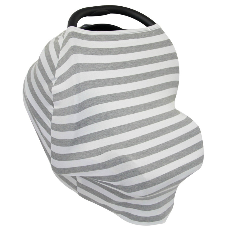 Stretchy Car Seat Cover Baby Carseat Canopy Privacy Nursing Infinity Scarf Shopping Cart Grocery Trolley In Child Safety Seats From