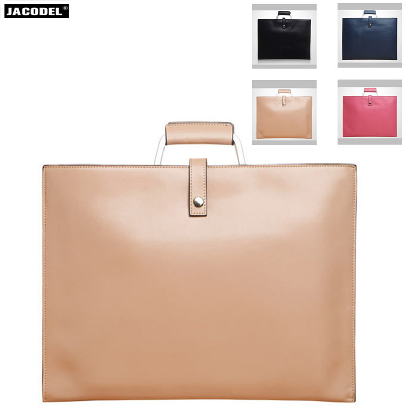 цена на Jacodel Genuine Leather briefcase for Macbook Air Pro Notebook Bag for Men's Women's Messenger Bags 12 13 14 inch Laptop Sleeve