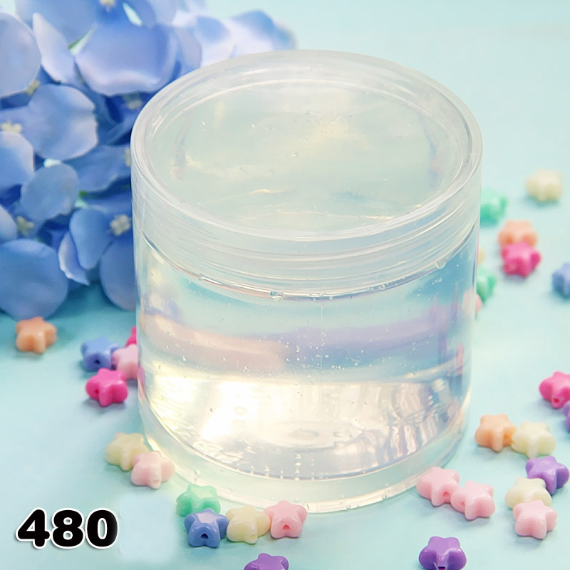 Plasticine Transparent White Crystal Mud Jelly Bubble Mud Crystal Anti-stress Slime Toys For Children Educational Toy Kids Gift