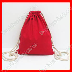 (200pcs/lot) size 30x35cm 12oz red canvas fabric kids drawstring backpack DIY paiting
