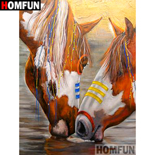 HOMFUN 5D DIY Diamond Painting Full Square/Round Drill Indian horse Embroidery Cross Stitch gift Home Decor Gift A08463 homfun 5d diy diamond painting full square round drill indian wolf embroidery cross stitch gift home decor gift a09279