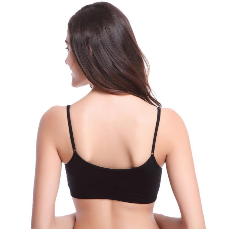 Comfortable Bralette Lingerie Underwear Womens Seamless Padded Wirefree Bra Fitness Sleep Solid Stretch Bras Girls Tank Top
