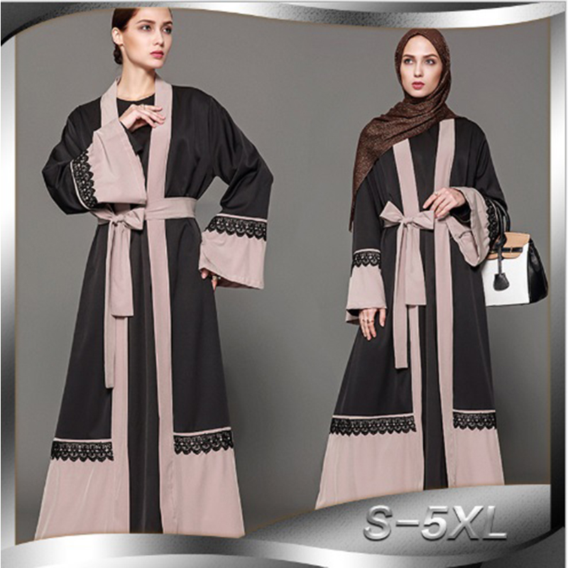 Muslim Plus Size Tunic Worship Service Musulmane Middle East Islamic Clothing Maxi Dress Color Abaya Cardigan Long Robe Gowns