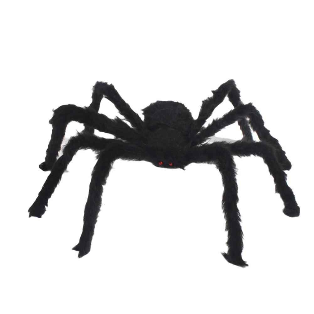 Nouveau 30 cm noir araignée halloween décoration nouveauté gag jouets maison hantée prop intérieur extérieur large