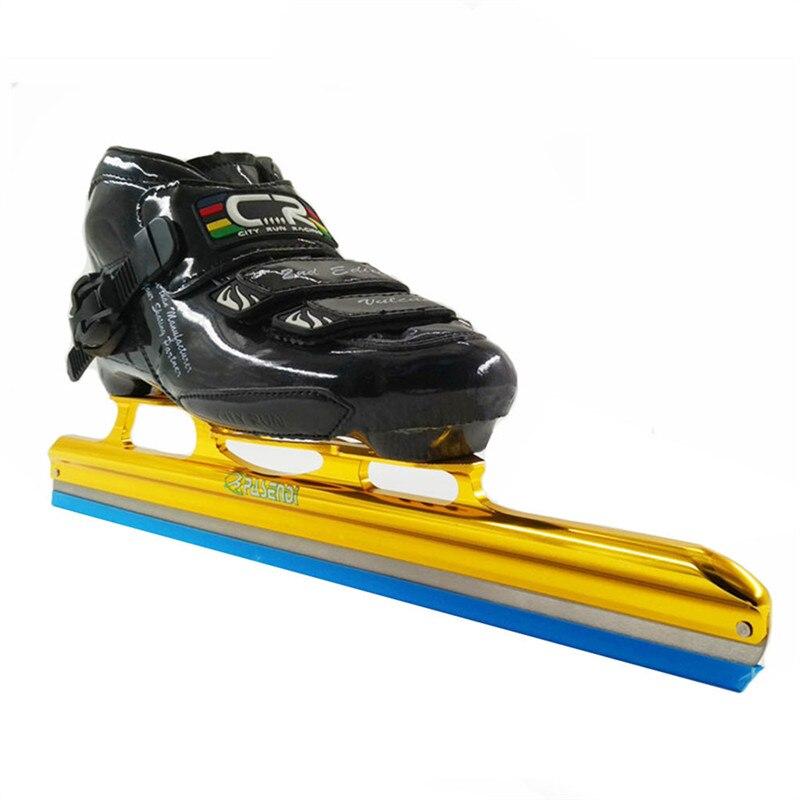 Prix pour Longue piste de patinage chaussures de patinage sur glace noir patins à roulettes pour le Hockey shooes chaussures De Glace Adultes/Enfants Patins À Glace
