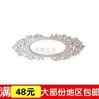 Dongyang Woodcarving Floral Applique European Wood Retro Frame Frame Frame Hand Carved Decoration Materials