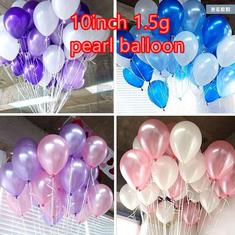 Hot Sell 10inch1.5g Latex Balloon Helium Round Balloons Thick Pearl Balloons Wed
