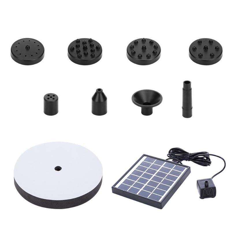7V 2W Solar Water Pump Foundtain Monocrystalline Silicon Solar Panel Kit Fountain Pool Garden Pond Submersible Watering Kits