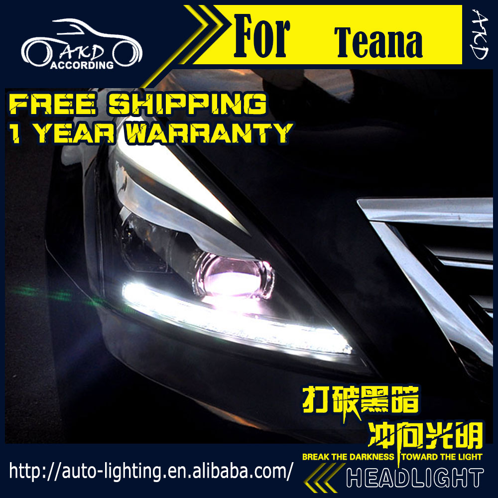 AKD Car Styling Head Lamp for Nissan Teana Headlights 2008-2012 Maxima LED Headlight H7 D2H Hid Option Angel Eye Bi Xenon Beam akd car styling for nissan teana led headlights 2008 2012 altima led headlight led drl bi xenon lens high low beam parking