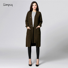 Full Trench Coat Turn-down Collar Single Breasted Long Limited Rushed For Women Casaco Feminino Charm Sweater